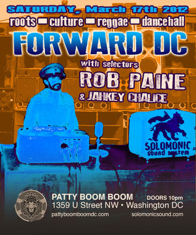 Forward DC - Solomonic Sound's monthly residency @ Patty Boom Boom