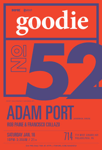 goodie no. 52 w ADAM PORT (Keinemusik)