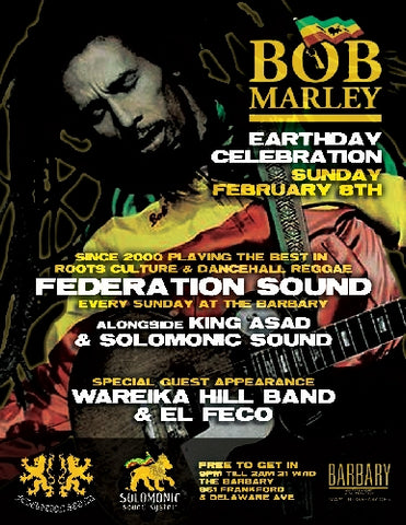 BOB MARLEY 'MARINATE' EARTH STRONG 2-8-09