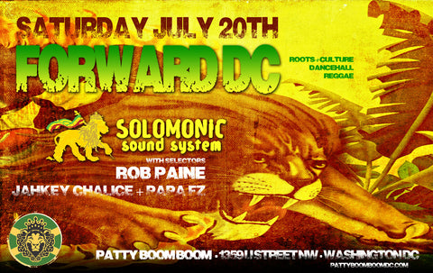 Forward DC - Solomonic Sound's monthly DC event