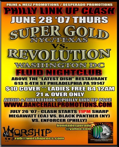 SOUND CLASH : Super Gold vs Revolution
