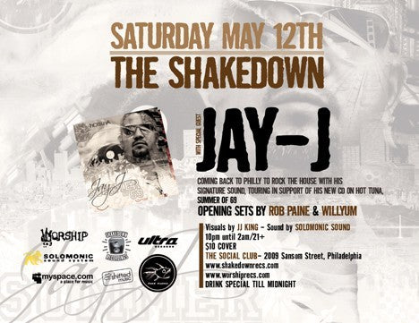 The Shakedown May 12th with Jay-J