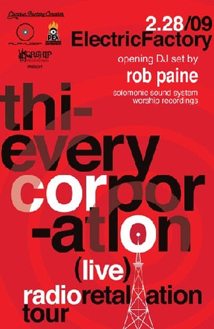 Thievery Corporation Feb 28th at Electric Factory