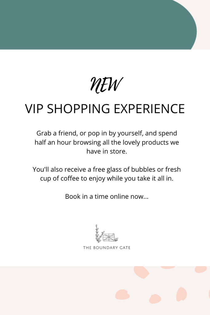 VIP SHOPPING EXPERIENCE - AVAILABLE NOW