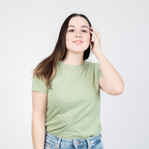 t-shirt verde mujer