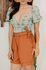 ALLIE PLAID CROP TOP