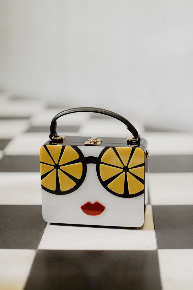 WHO DAT! LEMON SUNNIES HANDBAG