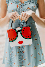 WHO DAT! WATERMELON SUNNIES HANDBAG
