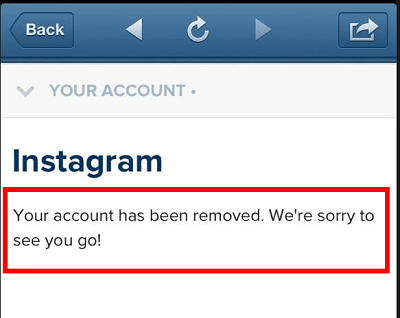 Why was my Instagram account deleted?
