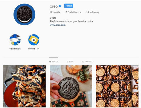 Oreo Instagram Page