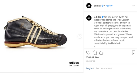 Adidas Instagram Post With Caption