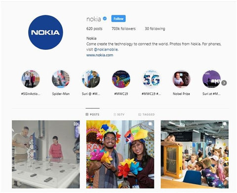 Nokia's connecting people instagram
