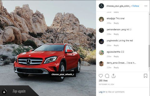 Choose Mercedes-Benz GLA Tires Instagram Mapped Ad