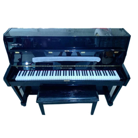 Piano Vertical Rosenthal 108m Negro Pata Recta Con Banca Up108m-Neg