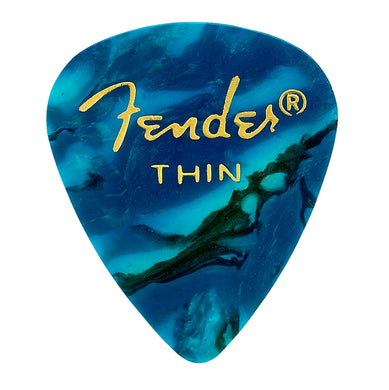 Pua Fender Pick Pack Ocean Turq Thin (12 Pzas), 0980351708
