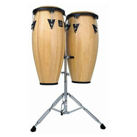 "Congas Lp Aspire 11"" y 12"" Madera Natural Con Atril Lpa647-Aw"