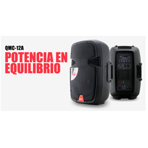 "Bafle Qmc Activo 12"" C/Bluetooth Y Mp3, Qmc-12a"