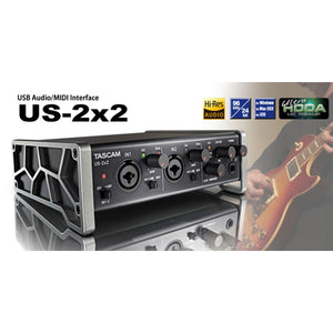 Interface De Audio Tascam Usb Con Phantom Us-2x2