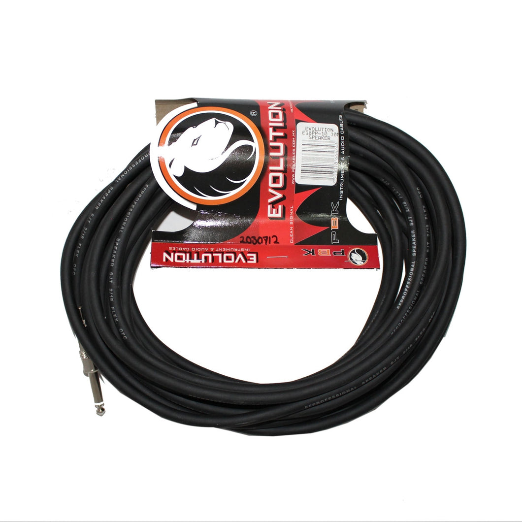 Cable Para Bafle Evolution Plug A Plug 10 Mts., E18pp-10