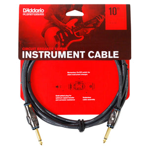 Cable Planet Wave Para Instrumento Con Switch On/Off 3 Metros Pw-Ag-10