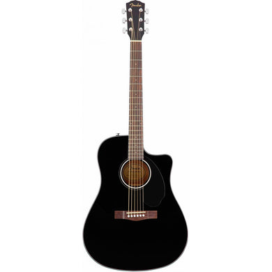 Guitarra Electroacustica Fender Cd-60sce Dread, Blk Wn, 0970113006