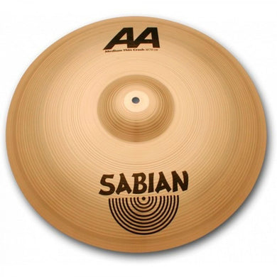 Platillo Sabian 21607B AA Medium Thin Crash 16 Pulgadas