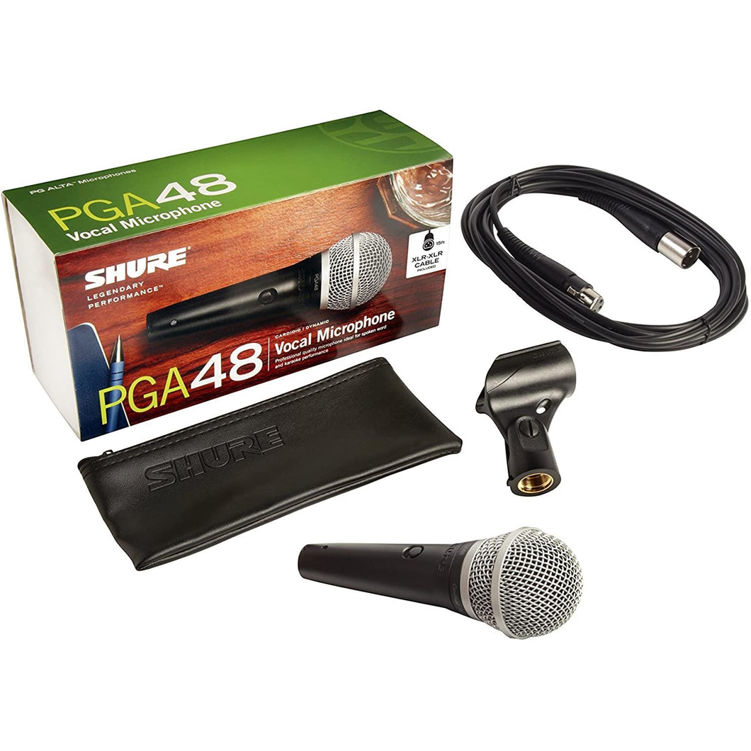 Microfono Shure Bobina Movil C/Cable, Pga48-Xlr