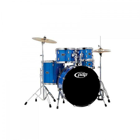 Bateria Pdp 5 Pzas Color Midnight Blue C/herraje Crom., Pdma2215hc-mb