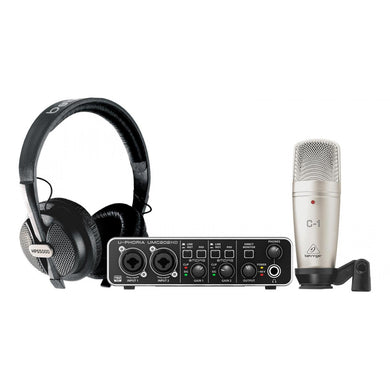 Interface Audio Behringer Um202hd Sistema Grabación Studio Pro