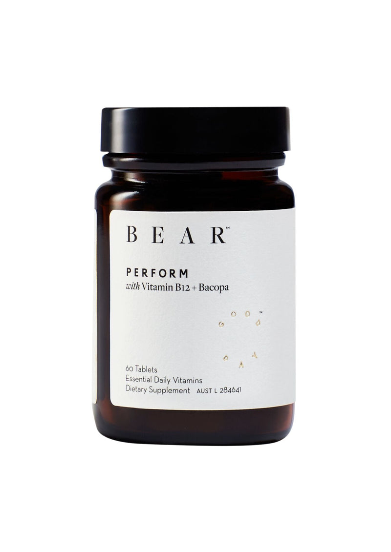 PERFORM- Essential Daily Vitamins with Vitamin B12 + Bacopa + For Clarity, Energy & Stress Relief - Altheå For Woman Kind