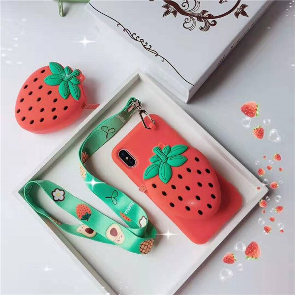 Strawberry Wallet iPhone Case