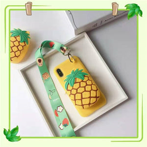 Ananas Wallet iPhone Cover