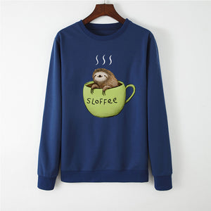 Open image in slideshow, Sloffee Sweatshirt Korean Chill Caffee