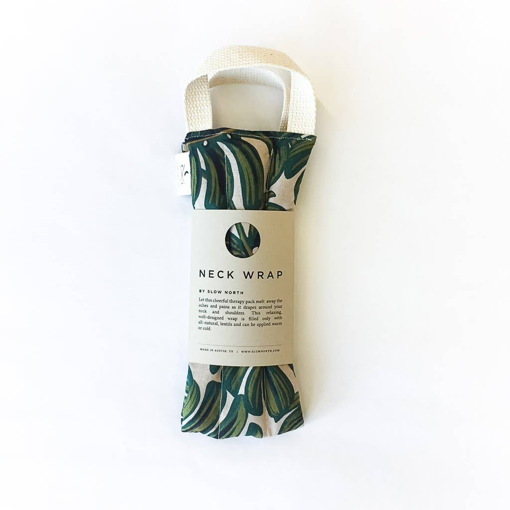 Slow North - Neck Wrap Therapy Packs - Tropical Monstera