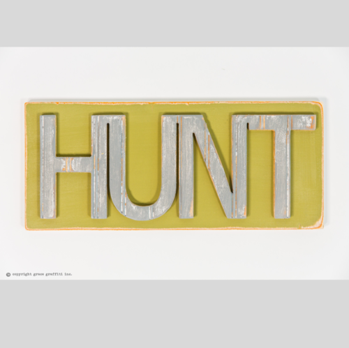 "18"" x 8"" Hunt Word Wall Art"
