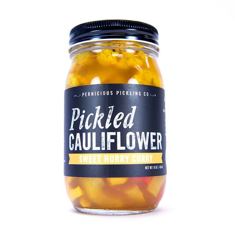 Pickled Cauliflower: Sweet Hurry Curry (8oz)