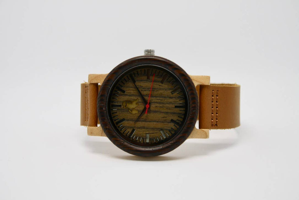 Swole Panda - Dark Brown Bamboo Watch