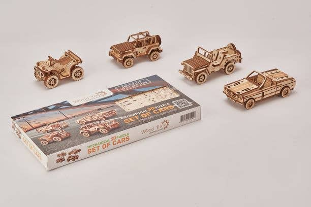 USAWoodTrick - Set of Cars Puzzle