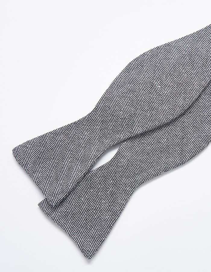 Admiral Row - Grey Patterned Bow Tie