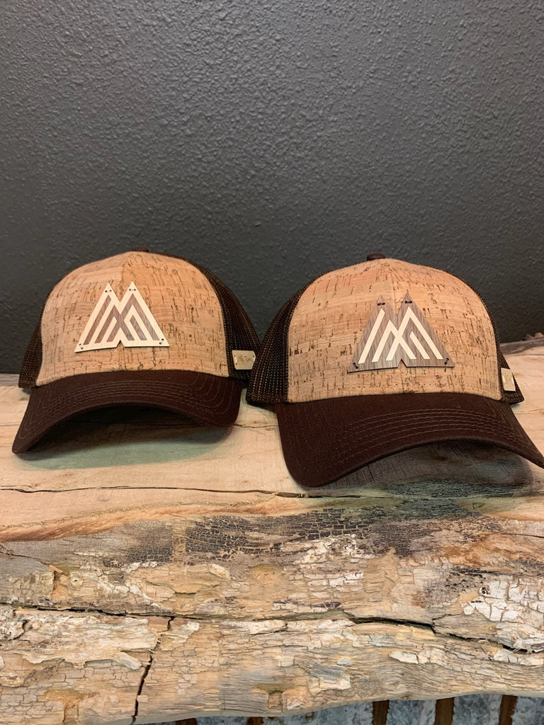 Monroe Emblem Branded Wood Inlay + Cork Trucker Cap