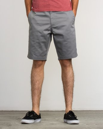 RVCA Weekend Stretch Short in Smoke