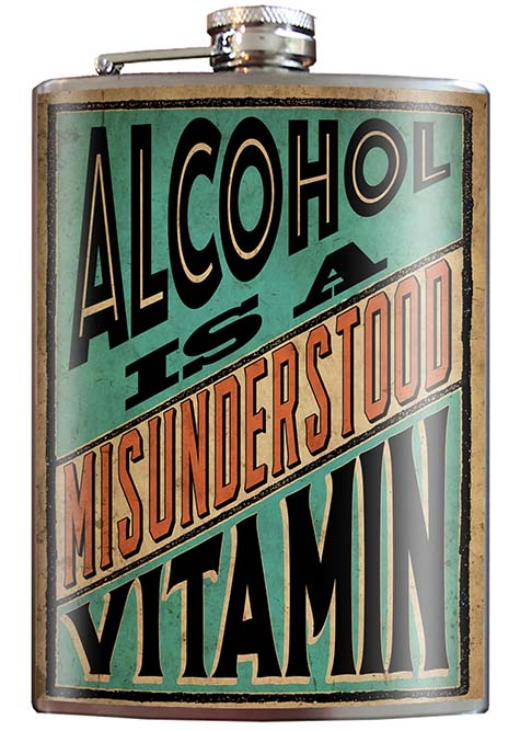Alcohol Is A Misunderstood Vitamin Flask