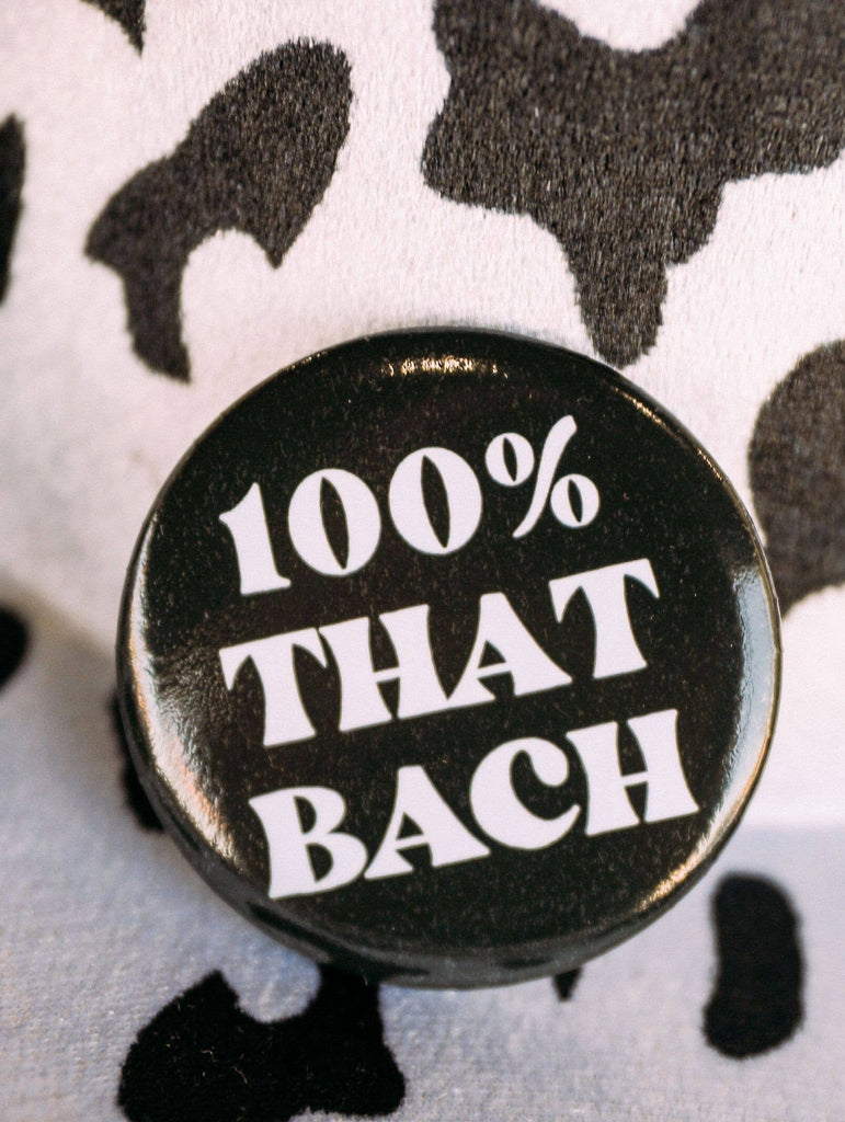 100% That Bach Black Button