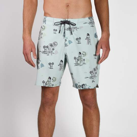 "Decade 18"" Classic Boardshort - MINT"