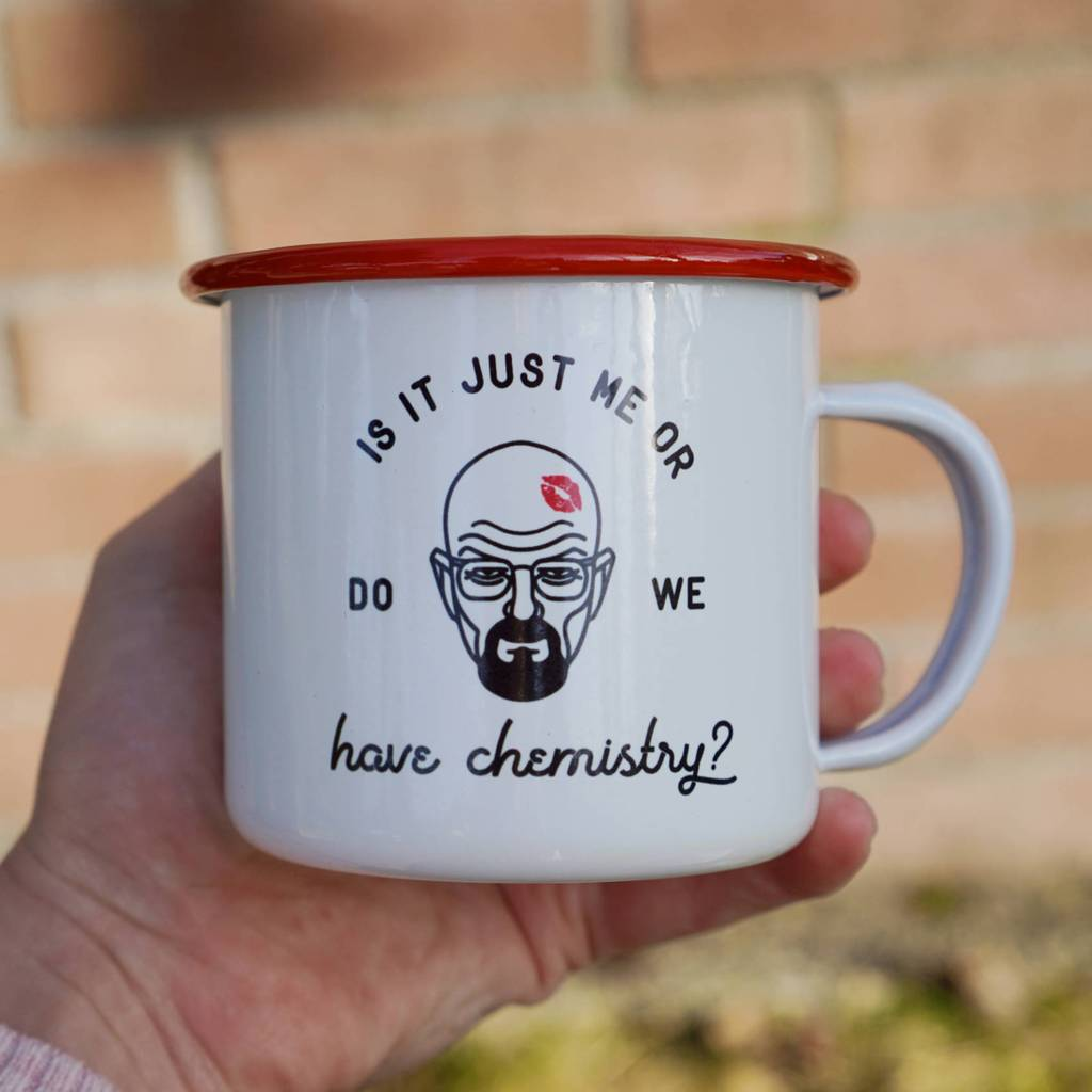 12 oz. Is It Just Me or Do We Have Chemistry Enamel Mug