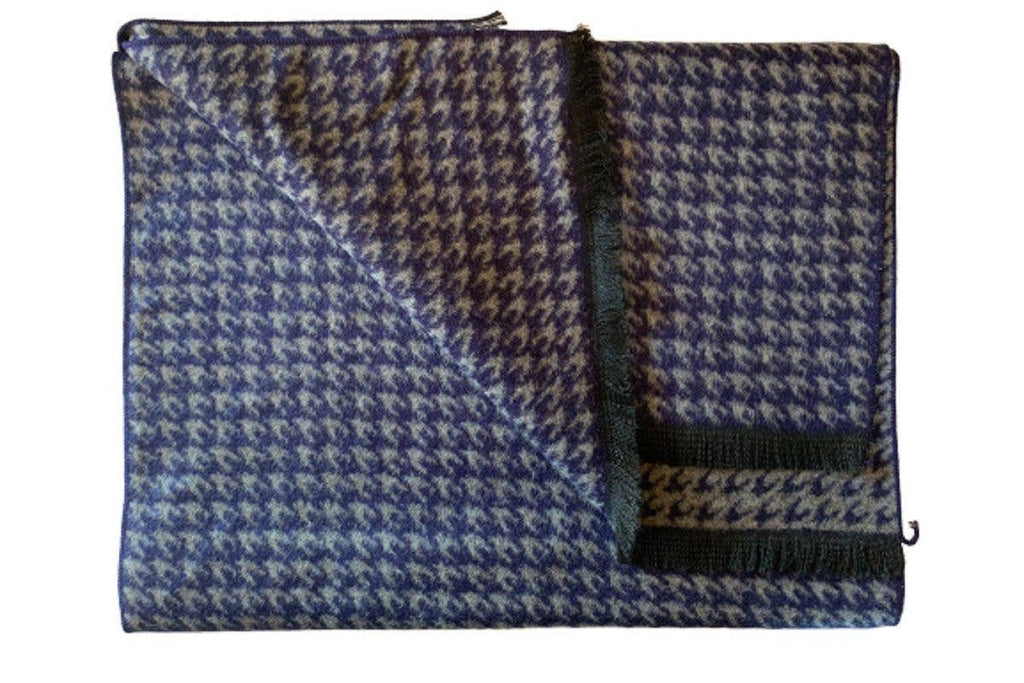 Swole Panda - Bamboo Scarf - BLUE HOUNDSTOOTH