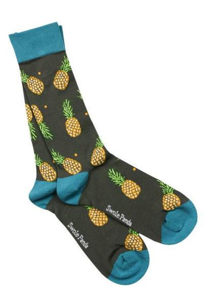 Swole Panda - Pineapple Bamboo Socks - Size 8-12