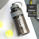 1L, 1.5L, 2L & 3L Large Sports Drinking Water Bottle Gym Training Travel Kettle w/Straw