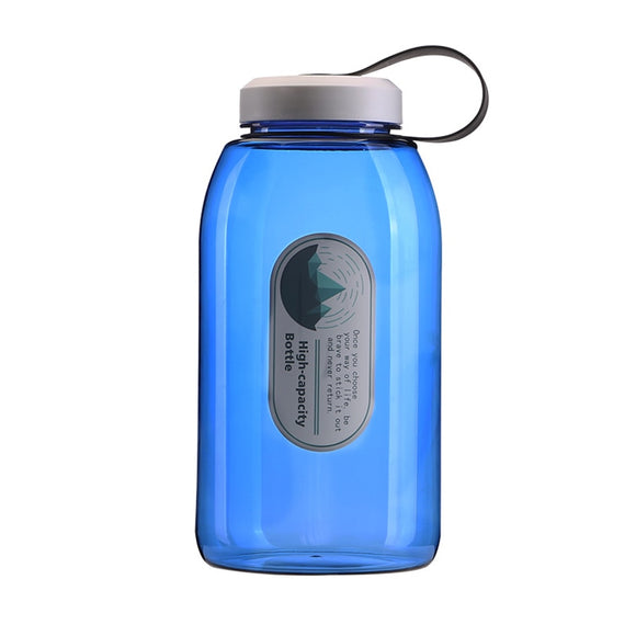 YCHUCH 2000ml Water Bottle Large Capacity Plastic Sports Bottle For Outdoor Camping Travel 2L Bottle With Straw Drinkware