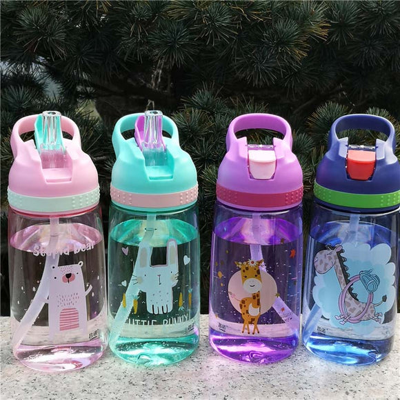 450ml Plastic Outdoor Kids Sport Bottle Healthy Life Hiking Climbing Bottle for Water My Children Water Juice Bottle